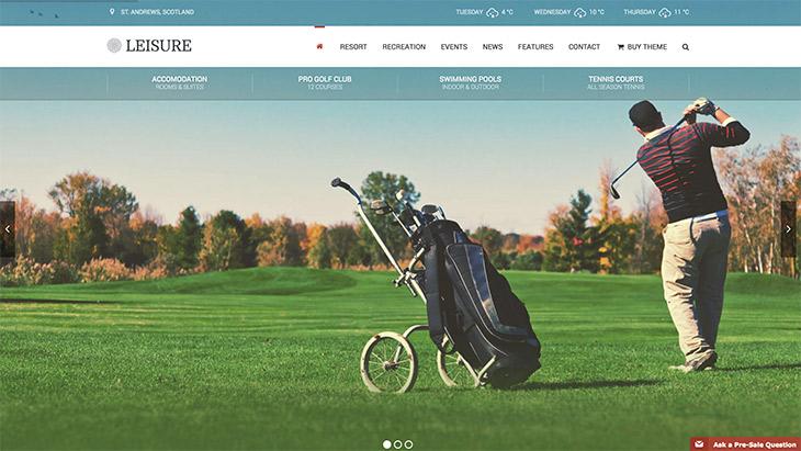 thème Leisure golf, hôtel