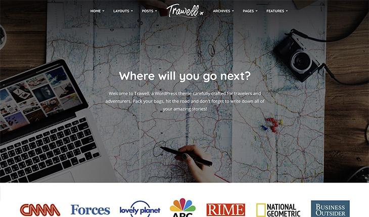 thème WordPress Trawell voyage