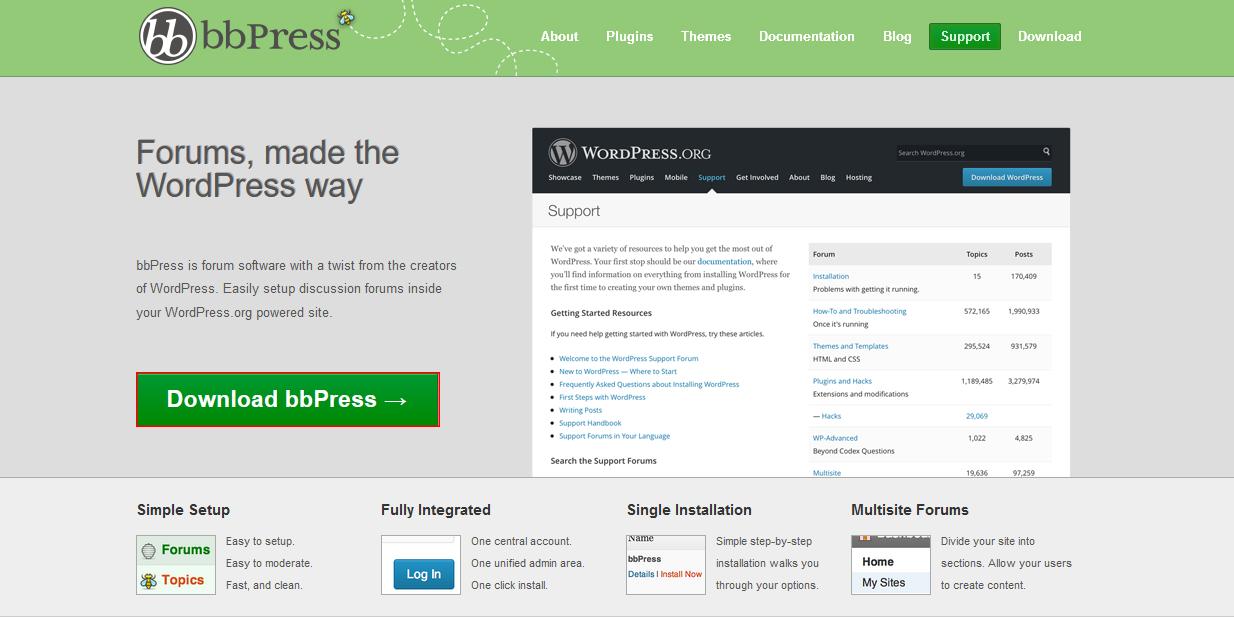 Téléchargement de bbPress