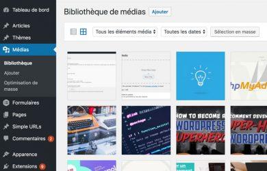 Types de fichiers Médias WordPress