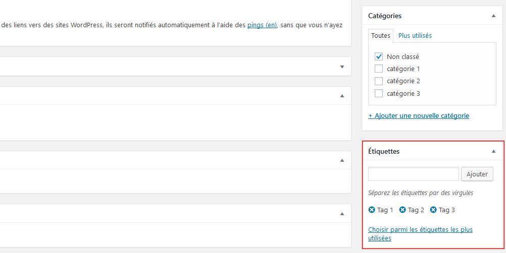 Les tags dans WordPress