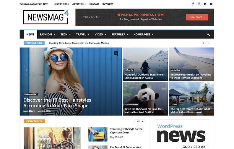 template NewsMag Pro