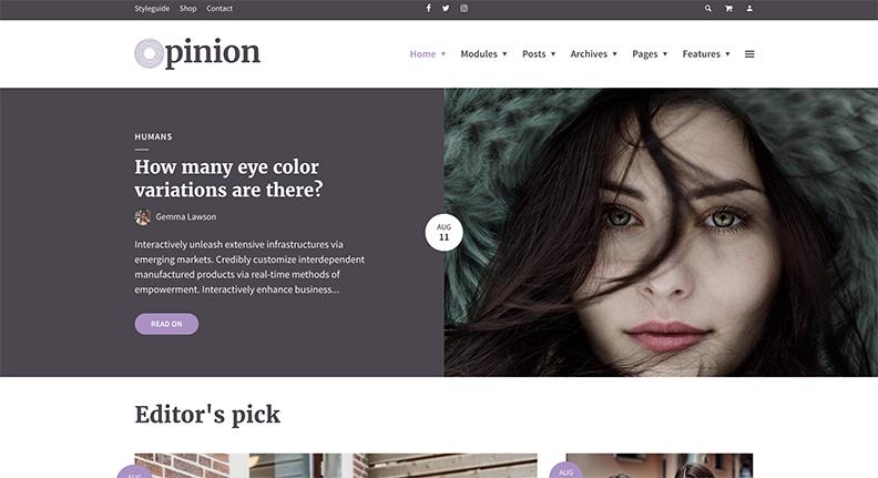 Opinion thème WordPress Magazine