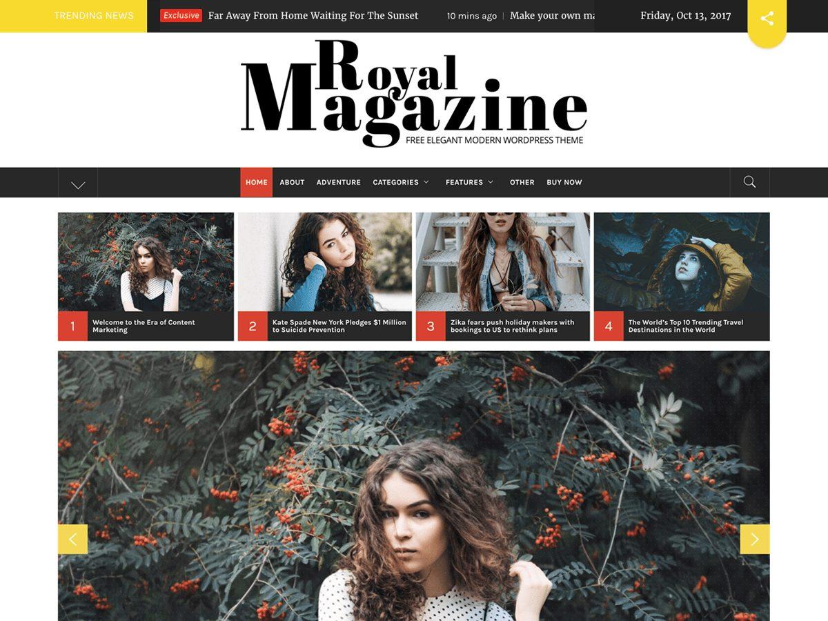 thème Royal Magazine