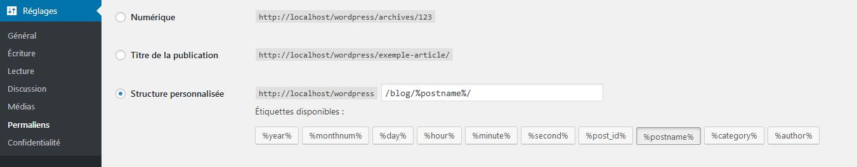 Les slugs dans WordPress