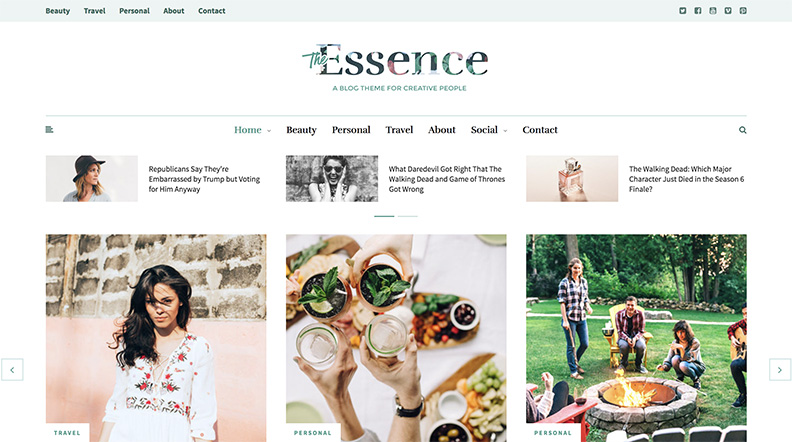 Thème Magazine The Essence