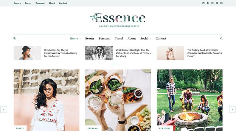 Thème Magazine The Essence