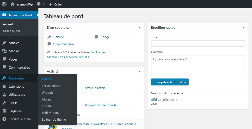 Ajouter des thèmes via la bibliothèque de WordPress