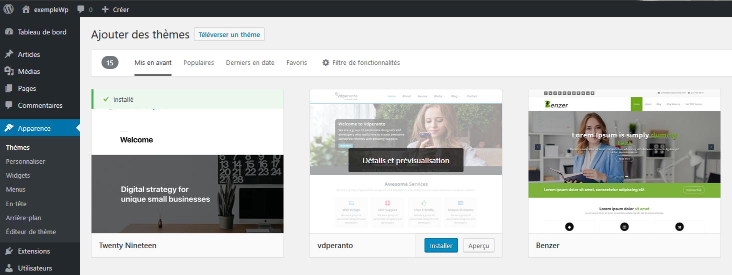 Installer un plugin via la bibliothèque de WordPress