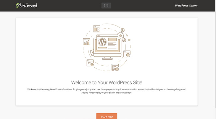SiteGround bienvenue WordPress