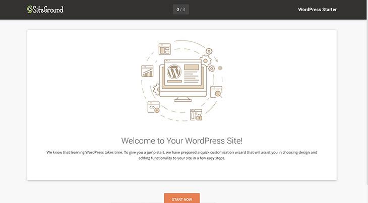 SiteGround bienvenue WordPress