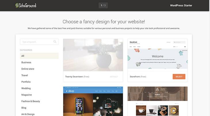 Siteground thème WordPress