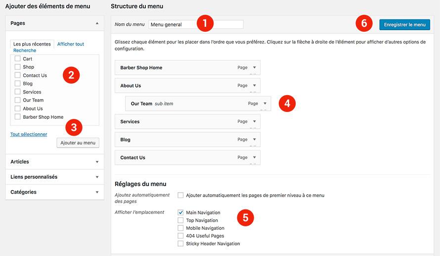 ajouter une navigation dans un site Wordpress