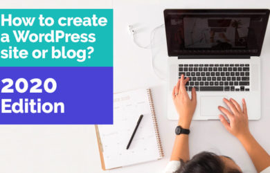 how to create a wordpress site or blog