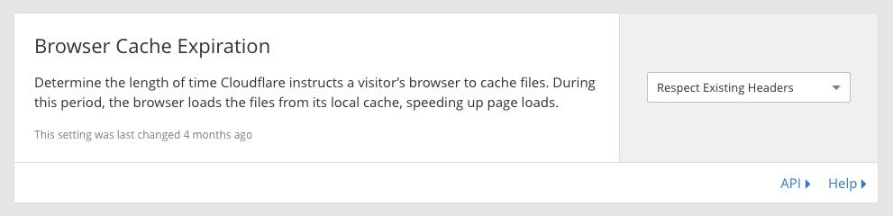 browser cache expiration