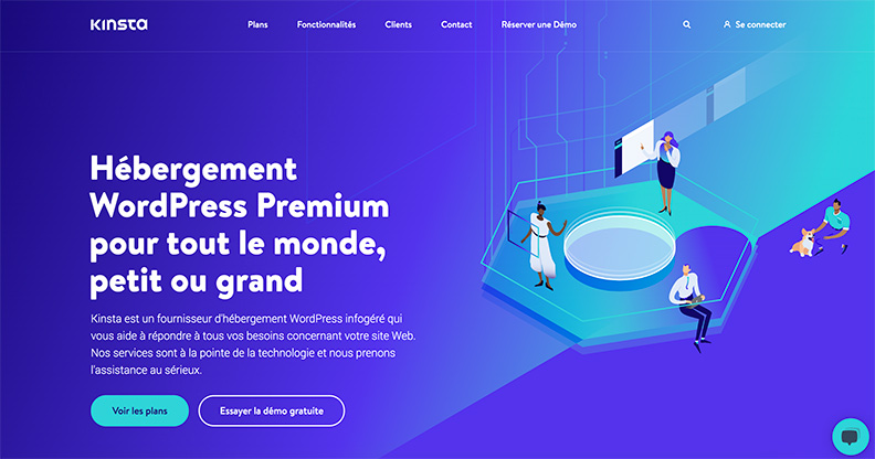 Kinsta - Page d'accueil