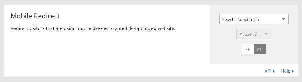 mobile redirect