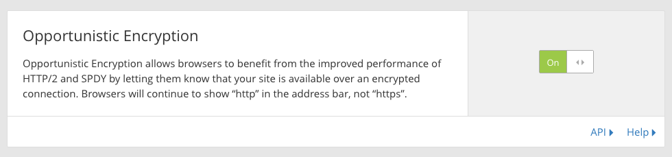 opportunistic encryption